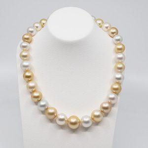 South sea multi color pearl necklace