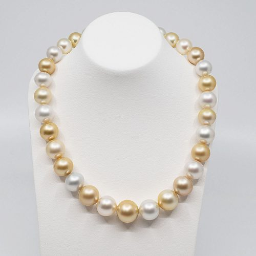 South sea multi color pearl necklace