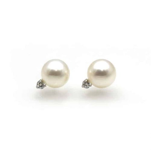Akoya and Diamond Earrings