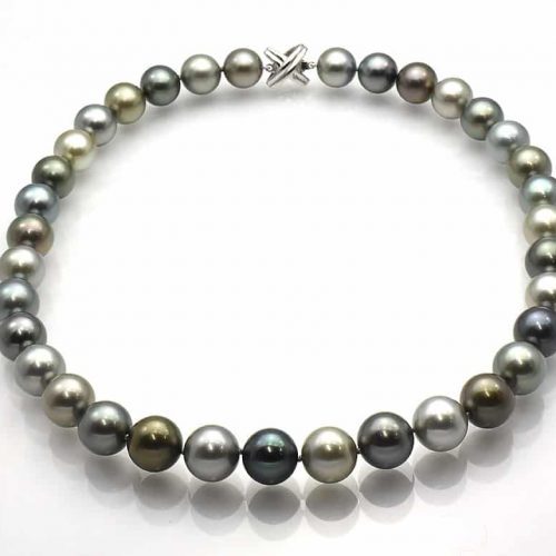 Tahitian black pearl Multi-color Pearl Necklace