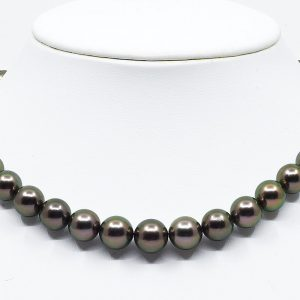 Black Tahitian Pearl Peacock Necklace