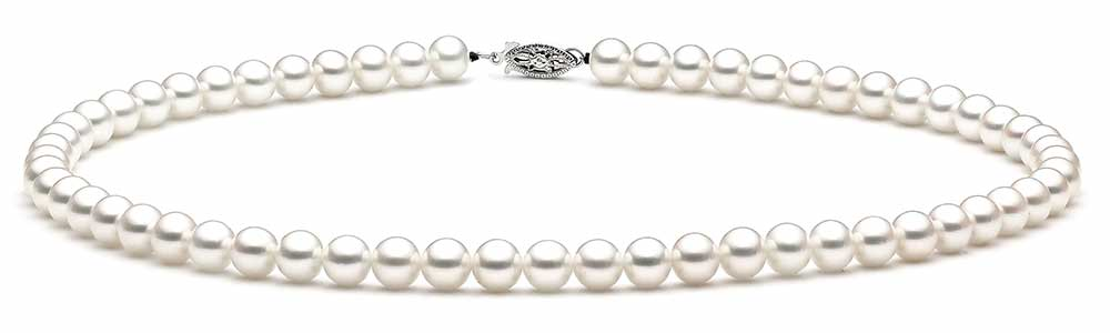 Japanese Akoya Pearl Necklace with Hanadama Certification