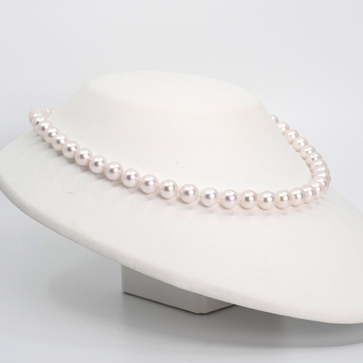 Stunning Japanese Akoya Pearl Necklace 7x7.5mm AA+ luster