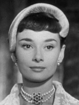 Audrey Hepburn Wearing Japanese Akoya Pearl Stud Earrings