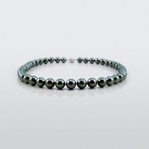 Black Tahitian Pearl Necklace Asteria