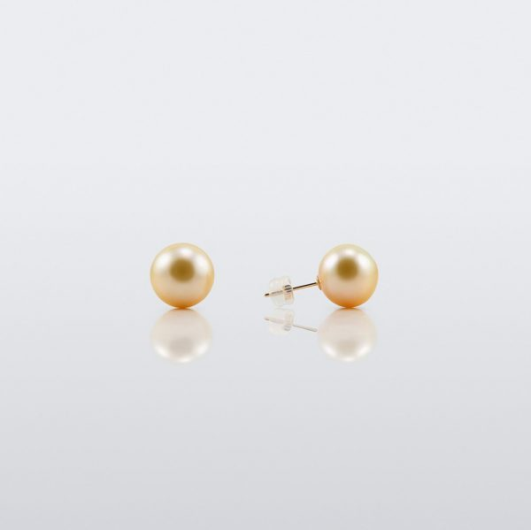 EOS Golden South Sea Pearl Studs