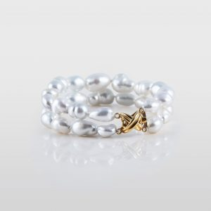 White South Sea Natural Keshi Pearl Bracelet