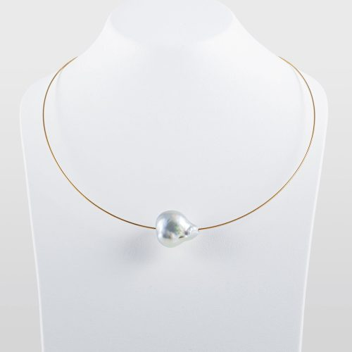 White south sea baroque pearl necklace