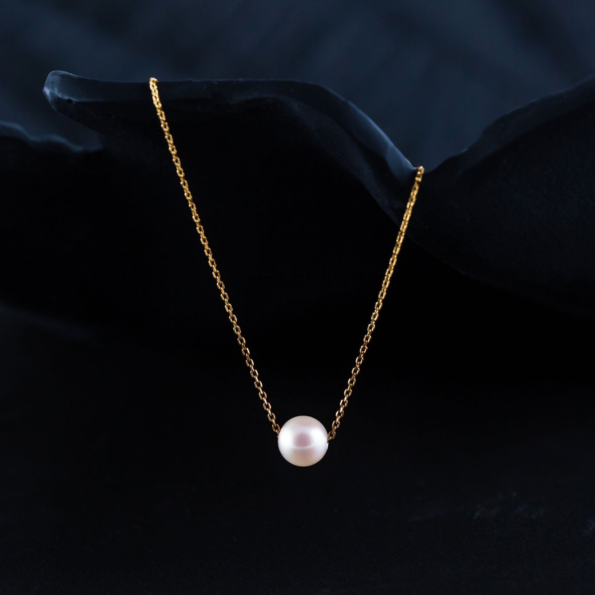 Japanese Akoya Pearl Necklace on chain