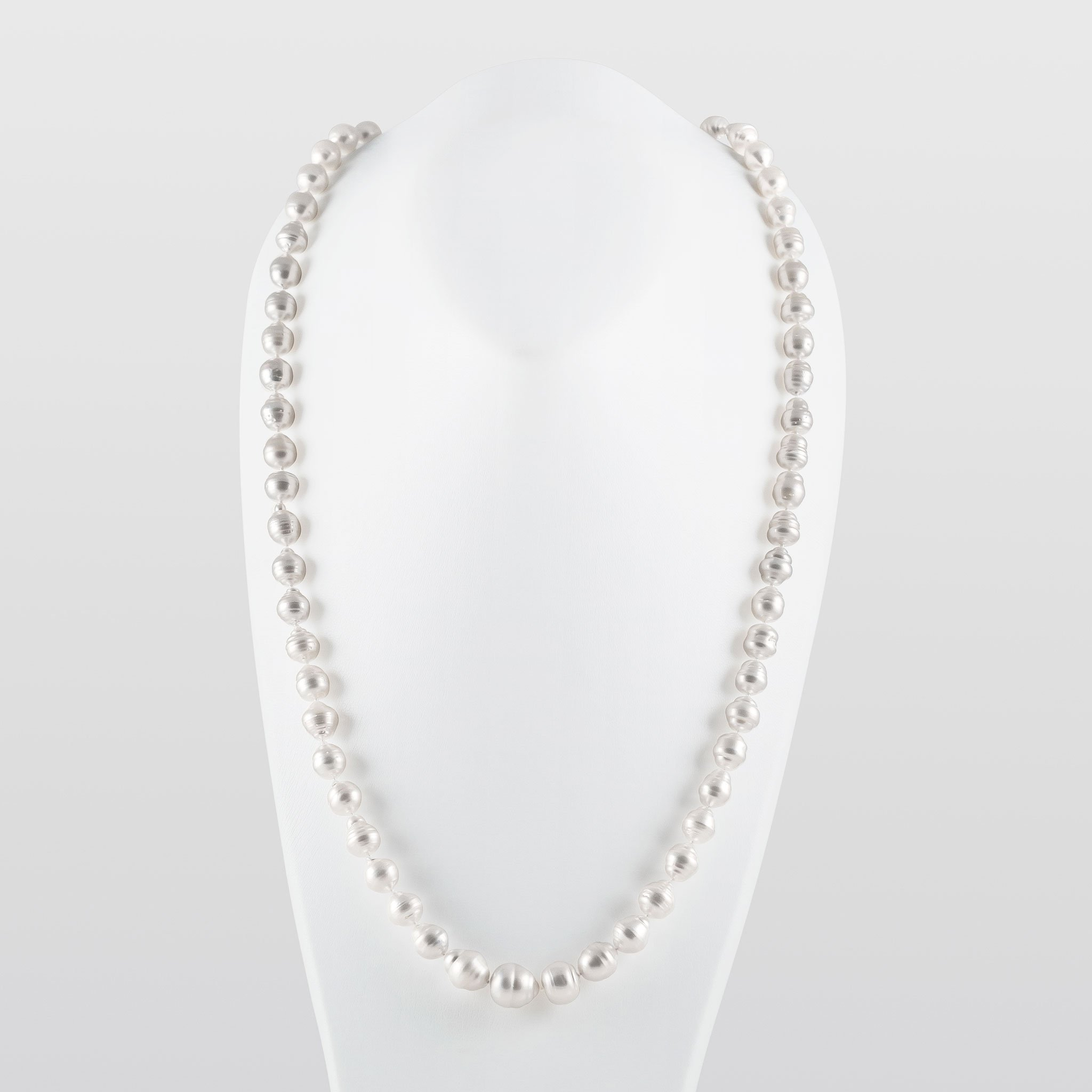 White South Sea Baroque Pearl Necklace AAA