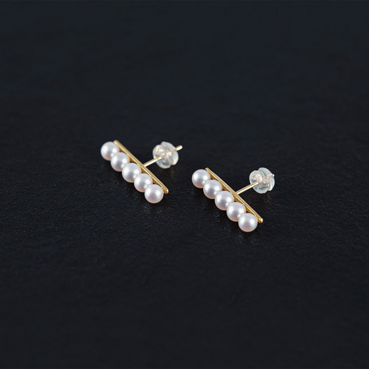 Japanese Akoya Pearl Earrings AAA 4mm